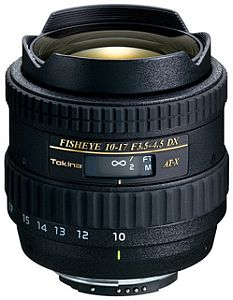 トキナー AT-X 107 DX Fisheye (キャノン) 10-17mm F3.5-4.5(IF)