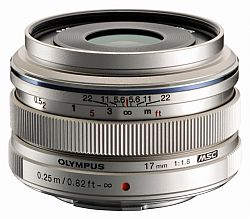 オリンパス M.ZUIKO DIGITAL 17mm F1.8 (シルバー)