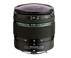 ペンタックス HD PENTAX-DA FISH-EYE 10-17mm F3.5-4.5 ED